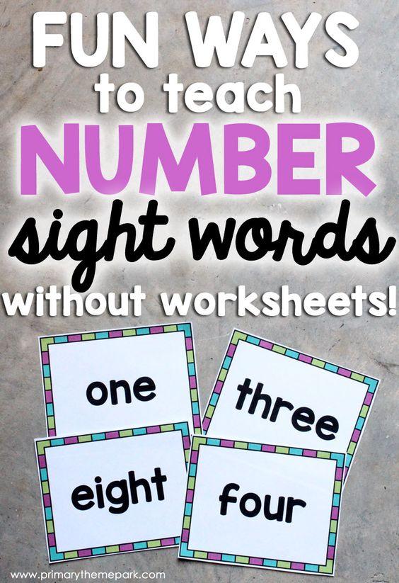 Number Names Worksheets : teaching number words to kindergarten ...