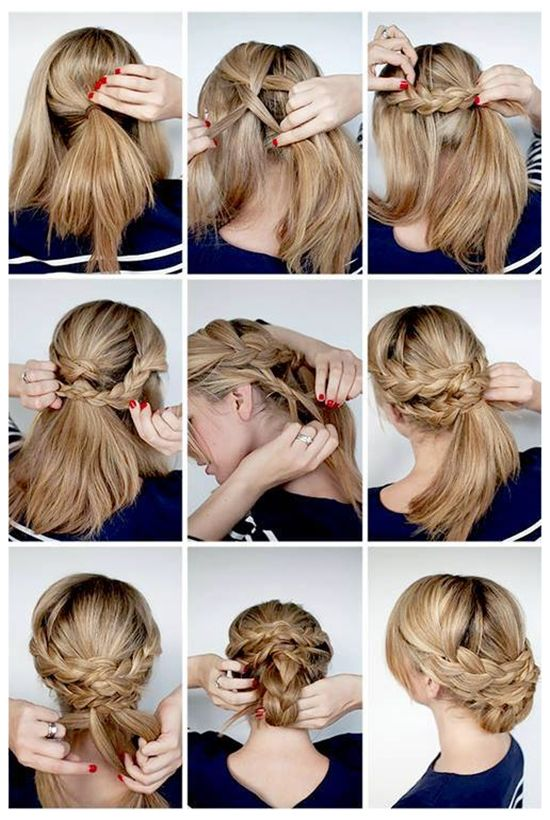 cute and simple braided ponytail hairstyle for 2014 by clip on 20 inch cheap brown hair extension