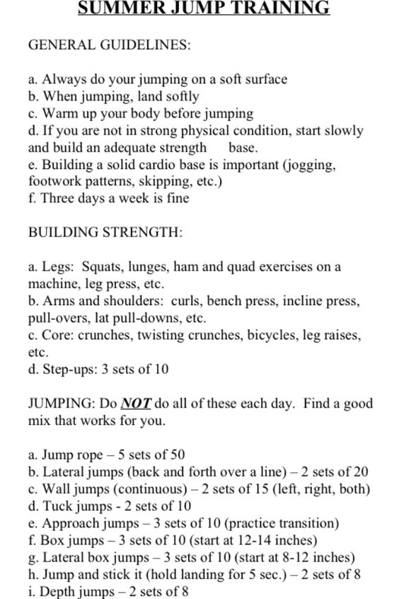 My coaches vertical workout! ~nicole
