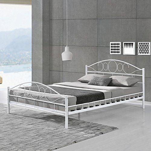 Metallbett weiß  moebel direkt online Metallbett weiß, Liegefläche 140x200 cm ...