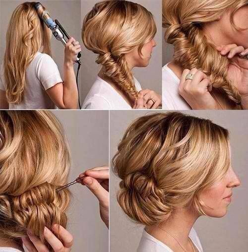 Today S Look If The Day Using A Curling Tongs To Set Hair In Place Fishtail Braid Carefully Loosen Holding A Stran Hair Styles Hair Beauty Long Hair Styles