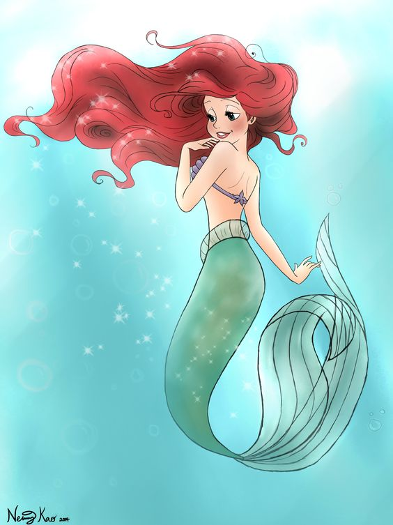Drawing of Princess Ariel #ariel #thelittlemermaid #disney #mydrawings