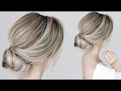 How To Simple Bun Tutorial Youtube Easy Bun Hairstyles Easy Updo Hairstyles Bun Hairstyles
