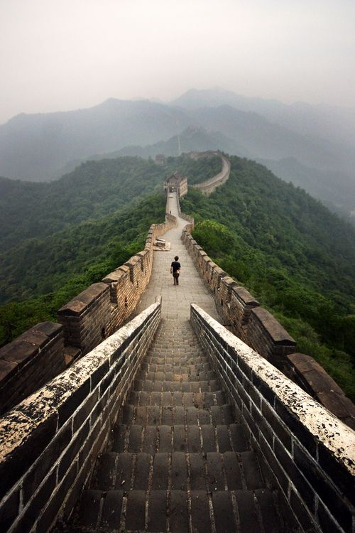 Great Wall at Dawn, China--How amazing would it be to be walking here?