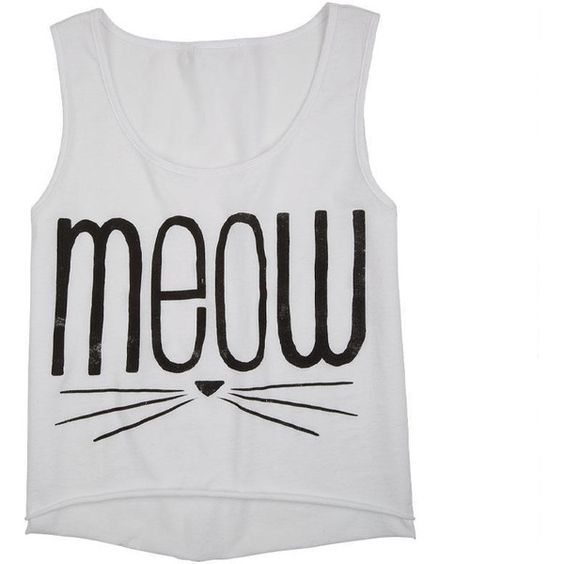 Meow Whiskers Tank found on Polyvore