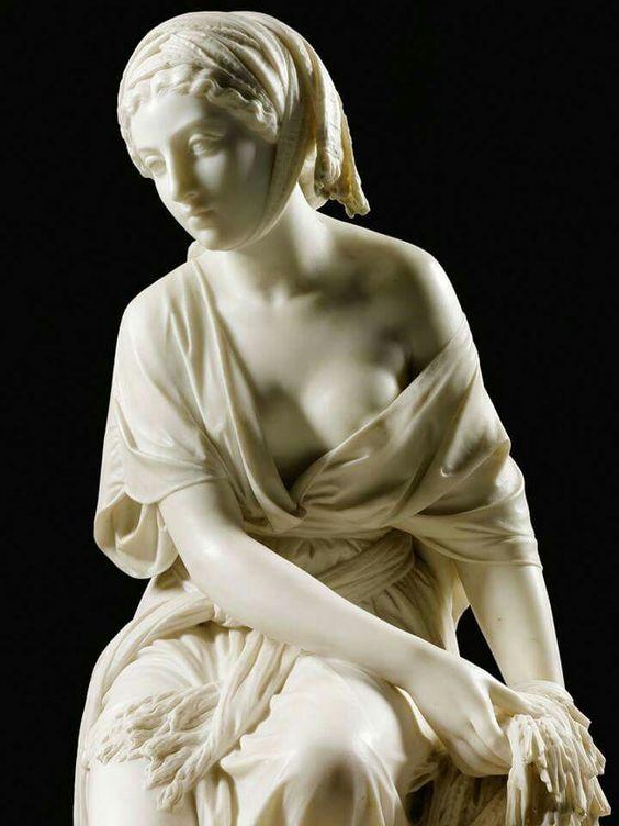 Giovanni Battista Lombardi (Italia, 1823-1880) - Ruth, 1864. Mármol, 117 cm de altura (colección privada)