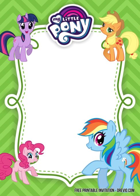Free Printable My Little Pony Birthday Invitation Templates Updated My Little Pony Printable Pony Birthday My Little Pony Birthday