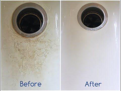 Cleaning A Porcelain Sink Porcelain Sink Clean Porcelain Sink Cleaning Hacks