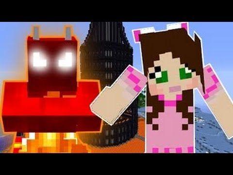 [Popularmmos - Minecraft ] BURNING VILLAGE! BUILD TO SURVIVE CHALLENGE!