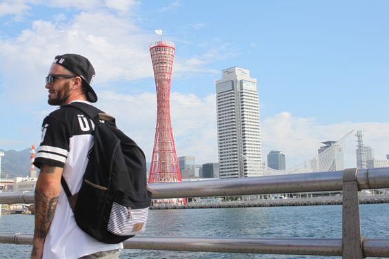Backpack Lucien in Kobe, Alex Jumelin #rideGaston #Gaston #ride #rider #bmx #bmxlife #bmxflat #ridebmx #bmxfamily #japan #tattoo #tatouage #view  www.ridegaston.com