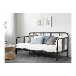 IKEA - FYRESDAL, Divan avec 2 matelas, noir/Malfors mi-ferme, , Deux fonctions pour un meuble : canapé le jour et lit  la nuit.Un matelas en mousse élastique apporte soutien et confort à tout votre corps.