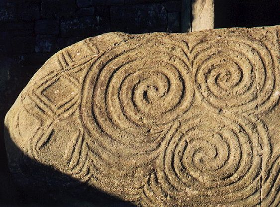 Beautiful spiral carvings from newgrange in eire