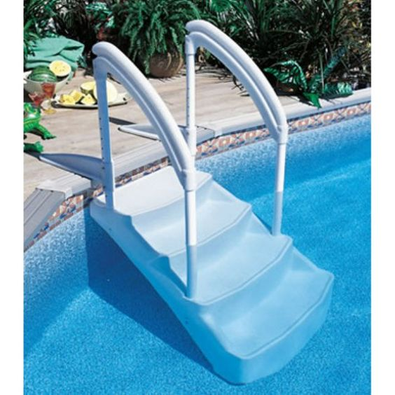 Pinterest the world s catalog of ideas for Above ground pool ladder ideas