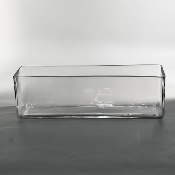 Glass Rectangle Low Vases - Wholesale Flowers and Supplies