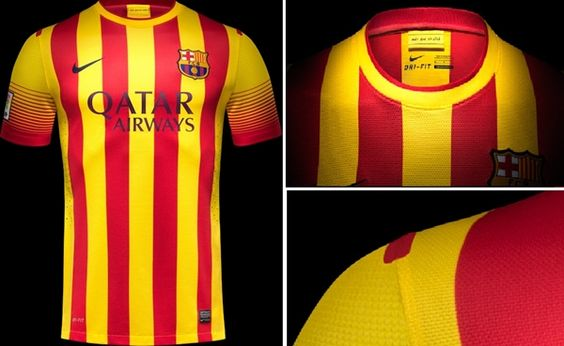 Camisa reserva do Barcelona 2013-2014