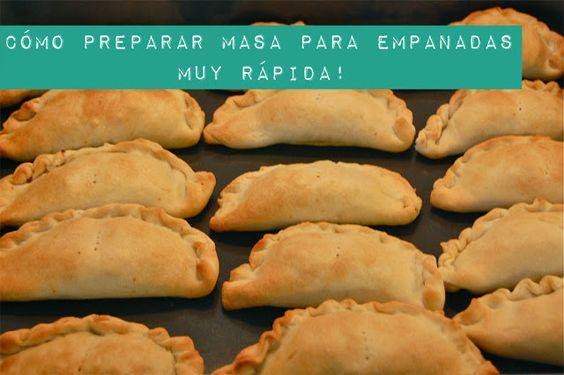 actitud y alegría ♥: Masa casera para empanadas (muy fácil, rápida y rica!)