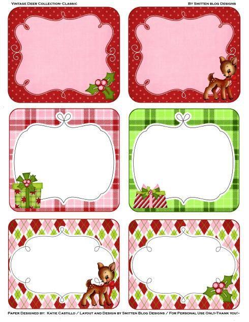 Christmas gift tags gift tags and printable christmas gift tags on pinterest for Christmas tags on pinterest
