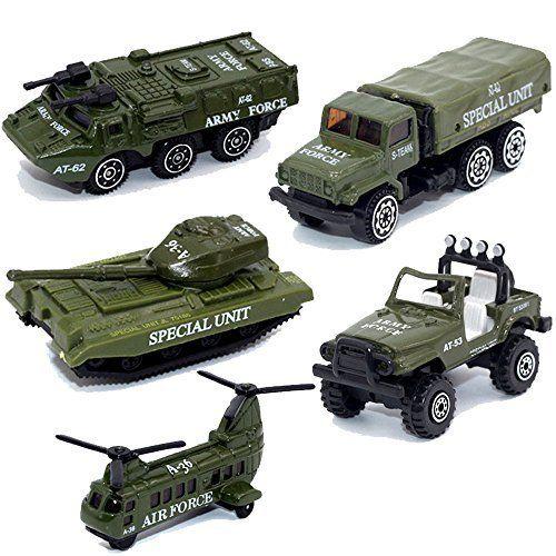 Minyn Army Vehicles Alloy Military Model Car Set 5 Pcs Diecast