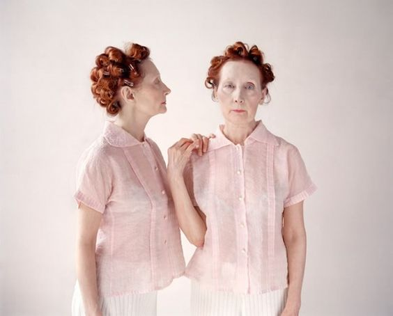 Photographer Maja Daniels has shoot twins Monette and Madi fascinated by their identical clothes and synchronized corporal language.