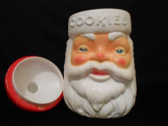 1973 Empire Plastics Santa Cookie Jar  Carolina by WildForVintage #Santa