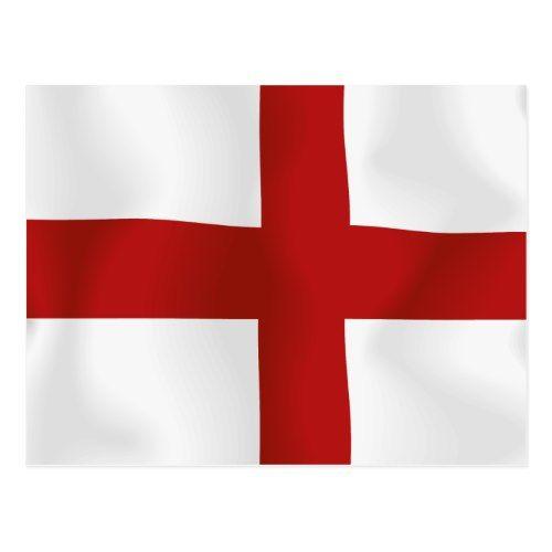 Flag Of England Postcard Zazzle Com In 2020 England Flag Emblem Of England Flag