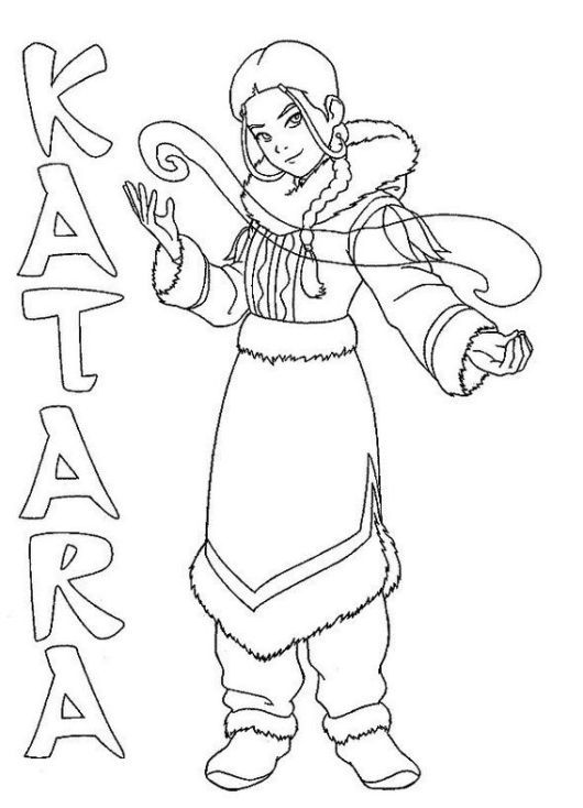 Avatar The Last Airbender Coloring Sheets For Kids Who Want To