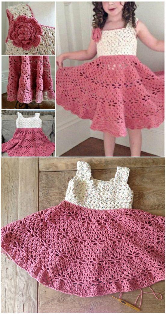 Crochet Girl Dress Pattern Ideas The Whoot Crochet Dress Girl Crochet Toddler Dress Crochet Girls Dress Pattern