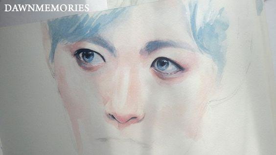 Eyes Watercolor Sketch (Hongbin)