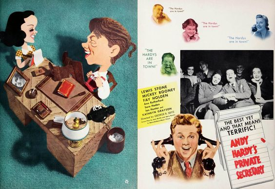 Andy Hardy's Private Secretary: Double page spread from Film Daily