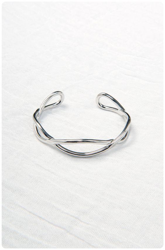 Brass Waves Cuff: Silver | $32