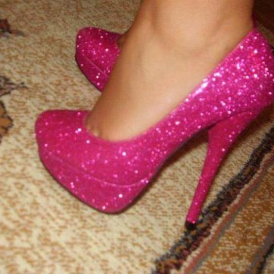sparkly pink heels | shoes | Pinterest | Hot pink, The o'jays and ...