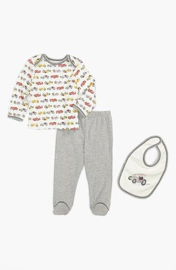 Little Me T-Shirt, Footie Pants & Bib (Baby Boys) | Nordstrom