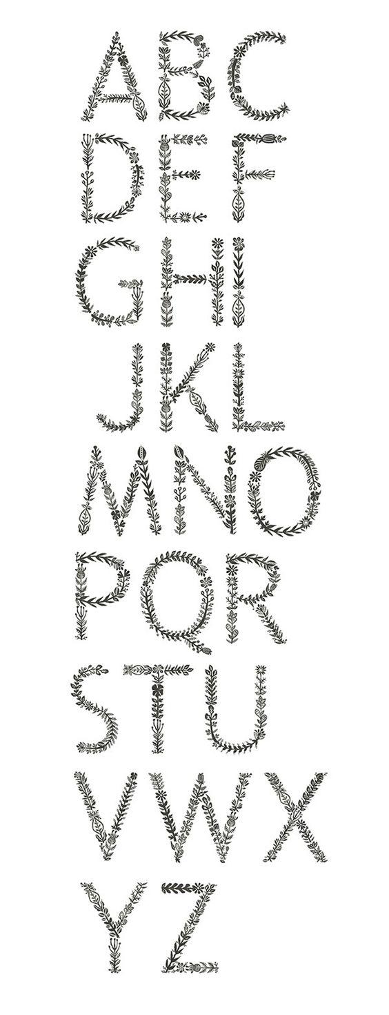 Alfabeto floral de Meni Chatzipanagiotou