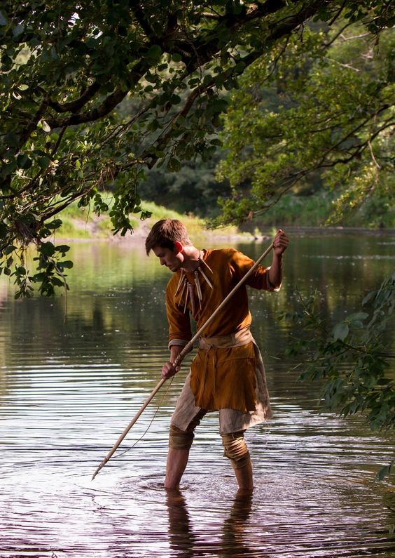 Historical Characters - Walkabout Characters | Norfolk| Eastern| UK: Stone Age Fisherman
