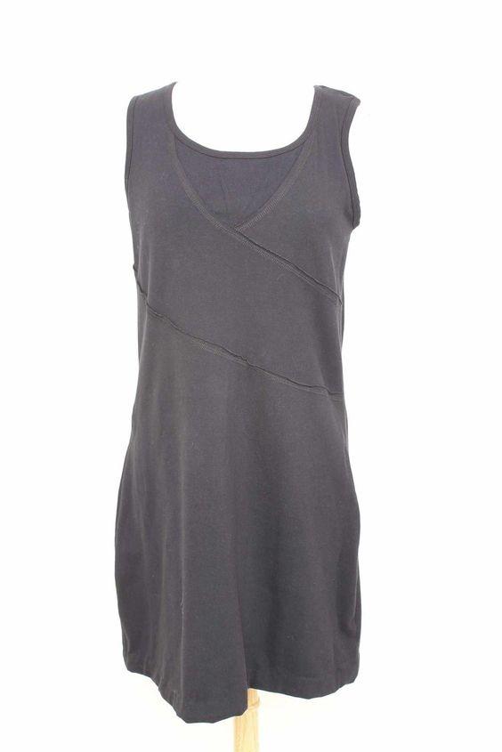 Title 9 Black Cotton Scoop Neck Sleeveless Dress Size Large 1078 11 | eBay