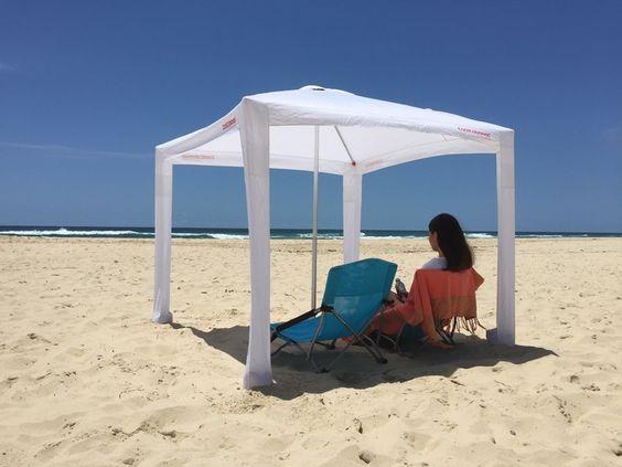 Best Beach Shelter : Cabanas beach canopy and umbrella on pinterest