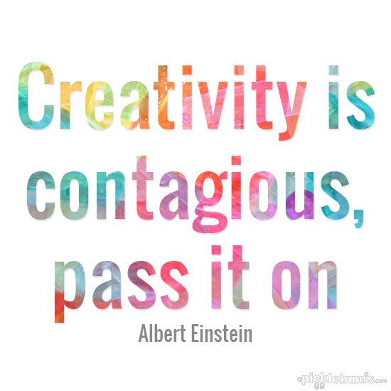 Creativity is contagious and art for kids doesn't have to be difficult.  A thought from a very smart man.