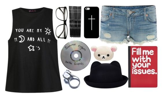 """""""i hate you, i love you, i hate that i love you"""" by ana-is-awkward ❤ liked on Polyvore featuring Ally Fashion, True Religion, Monki, Casetify, Pier 1 Imports and Kill Star"""