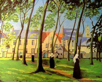 A Convent Painted by Churchill Many people don't know that in between saving Britain from invasion from the Nazi's and keeping the Cuban Cigar Industry afloat, Winston Churchill was an avid painter, and a pretty good one at that.: