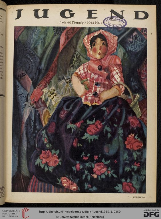 Jugend, German illustrated weekly magazine for art and life, Volume 30.1, 1925.