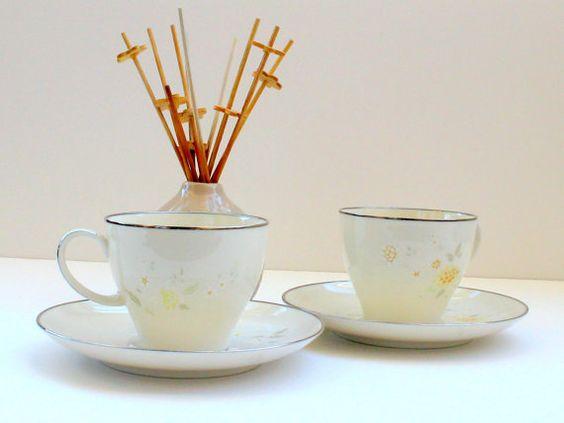 Vintage Noritake Miyako teacups and saucers $10.95