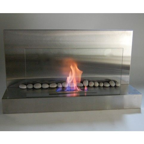 Eco-Feu Prague Stainless Steel Ventless Ethanol Wall Mounted Fireplace   Living Room Warehouse