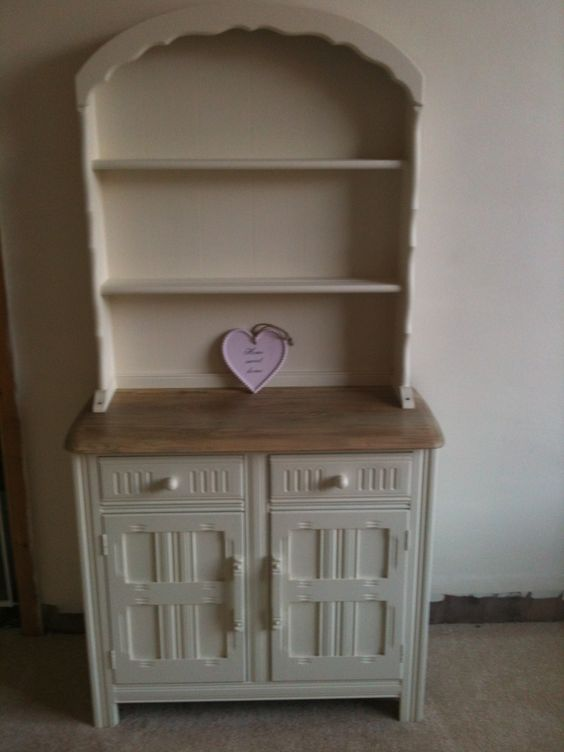 My shabbied up painted priory dresser bought off eBay for 50 bargain   Dressers and eBay. Dressers Ebay