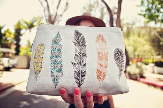 Taryn's Party // Feather Pouch at Heritage Mercantile