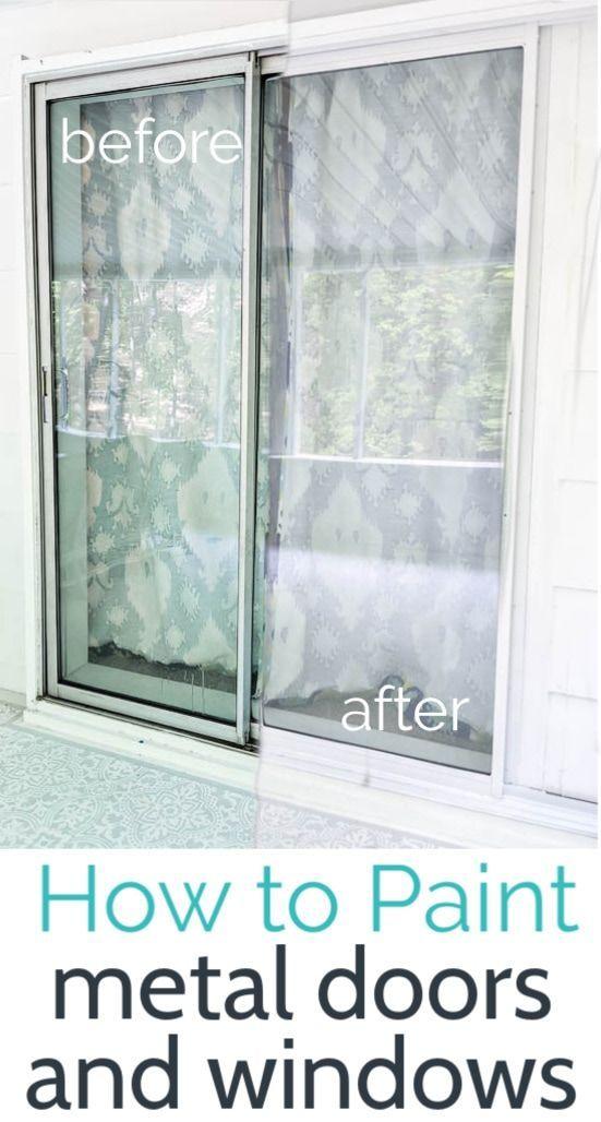 How To Paint Aluminum Windows And Door Frames Lovely Etc In 2020 Metal Window Frames Painting Metal Doors Painted Window Frames