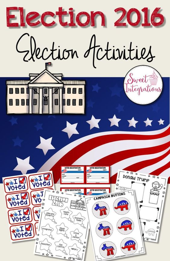 The presidential election will soon be here. I've provided resources and activities for studying the election process. Students can even vote online using Google forms. $
