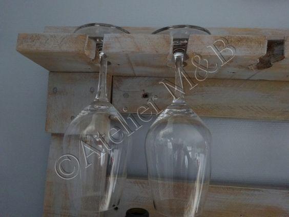Tag re mural pour bouteilles de vin verres pied - Peindre des verres a pied ...