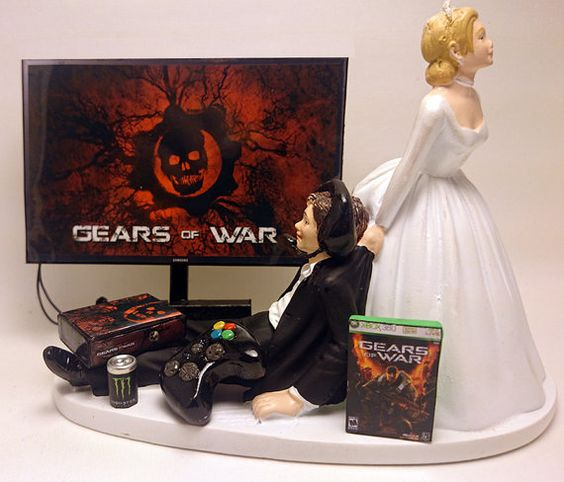 Gears Of War Xbox Wedding Cake Topper