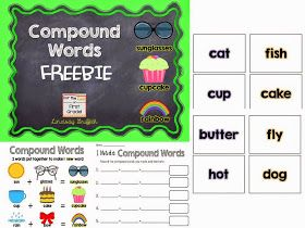 For the Love of First Grade: Introducing Compound Words with a FREEBIE!