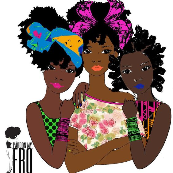 {sisters} #PardonMyFro #freelancer #digitalart #blackgirlmagic #illustration #afroart #naturalsisters: